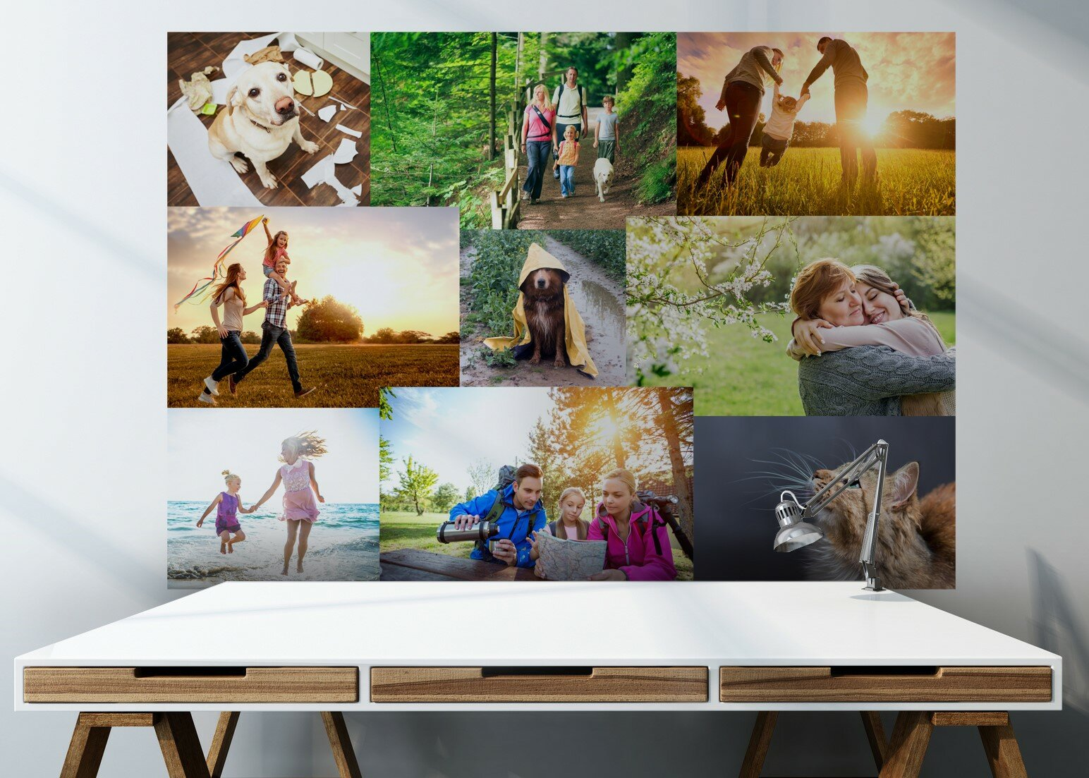 Make your own photo collage wallpaper