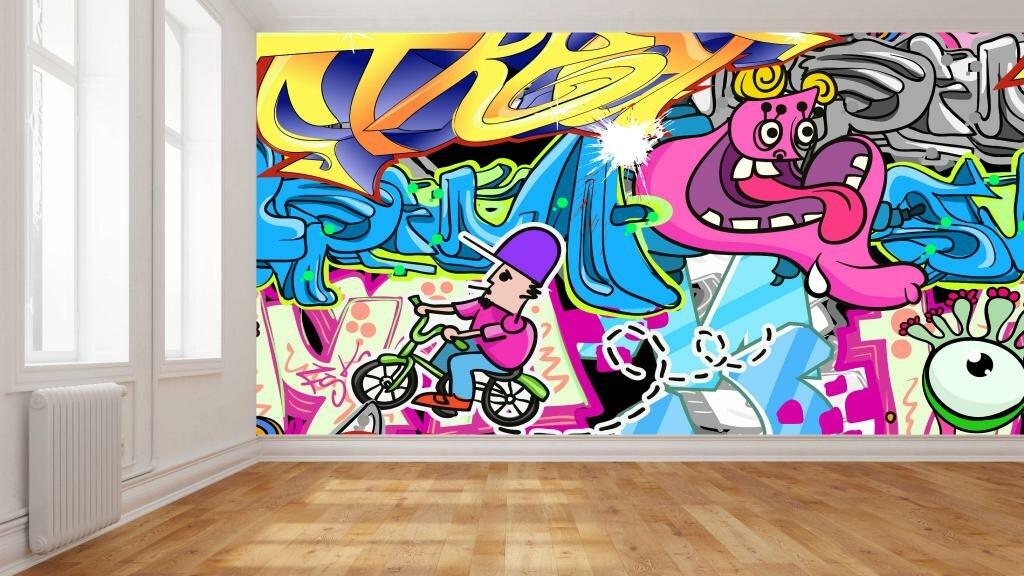 Graffiti Wallpaper and Wall Coverings - Create A Wall